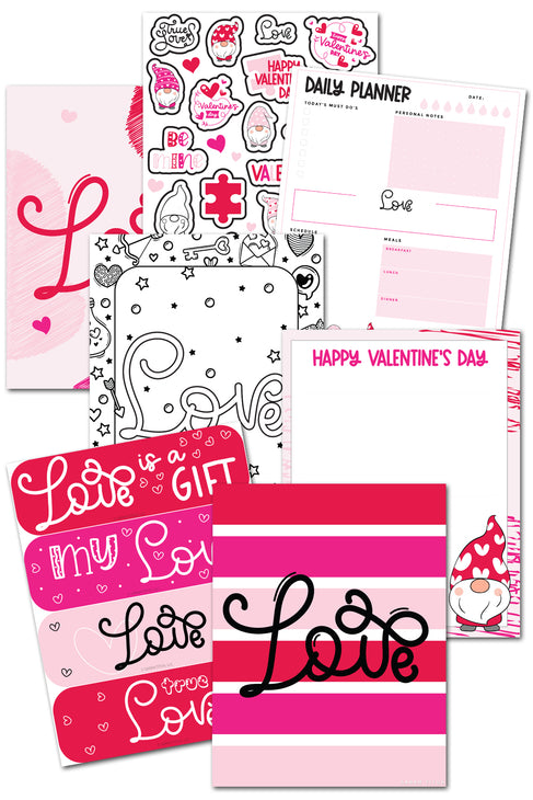Valentine's Day Love Printables Pack {13 pages}