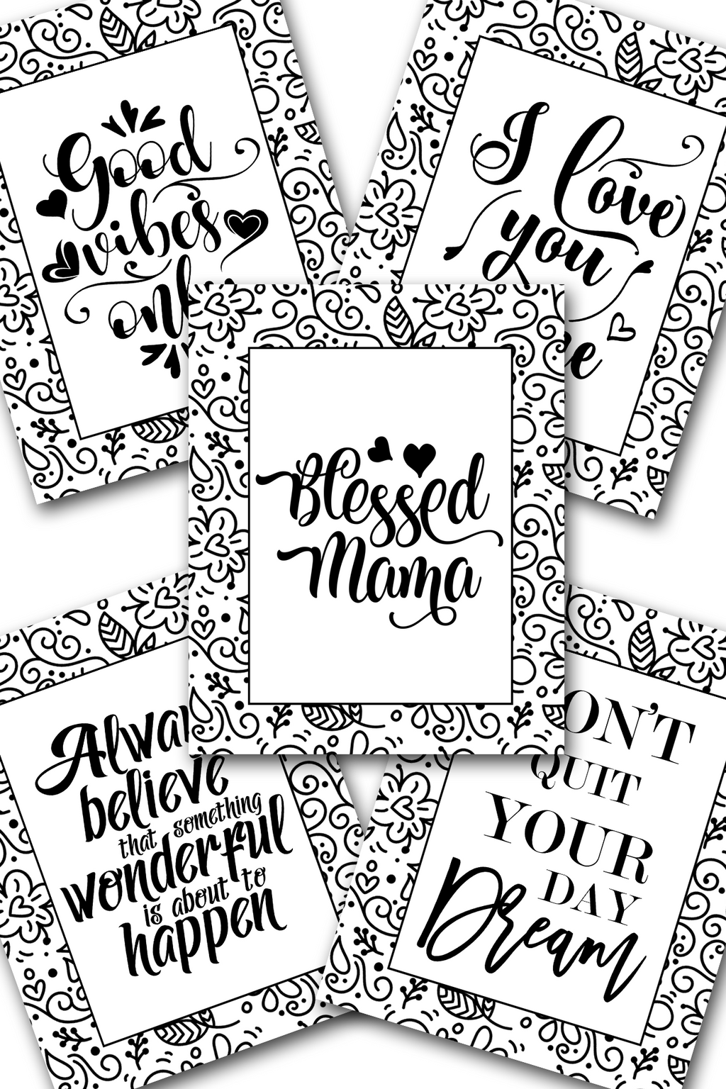 Blessed Mama Coloring Sheets Pack