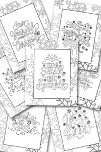 Christmas Coloring Sheets Pack