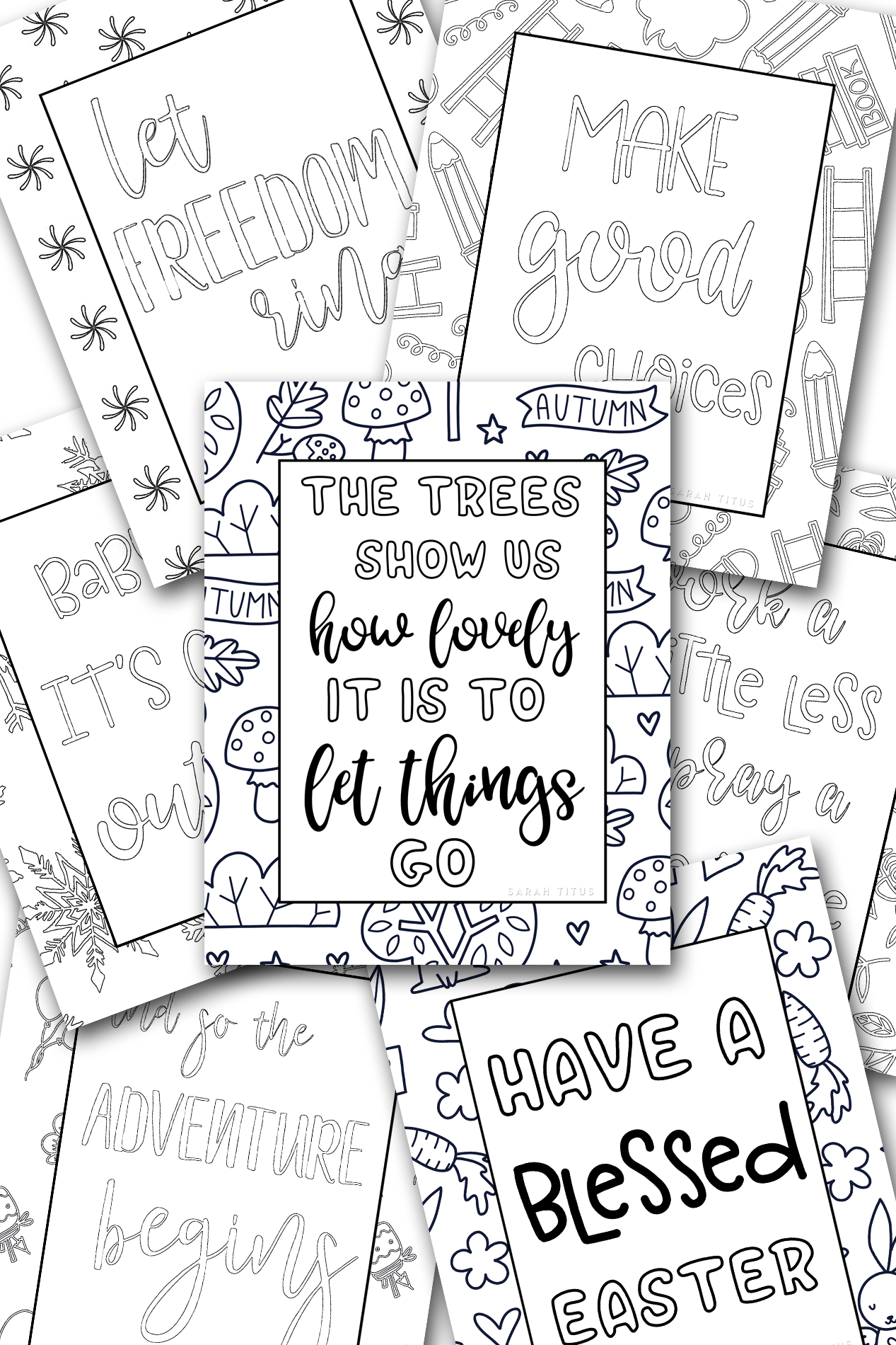Coloring Through The Year {Coloring Book}
