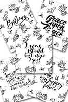 Inspirational Flower Coloring Sheets Pack