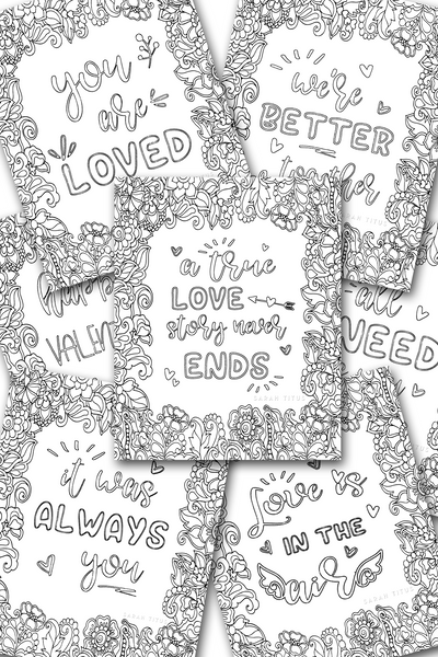 Love Coloring Sheets Pack