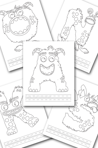 Monster Alphabet Handwriting Practice Sheets {26 pages}