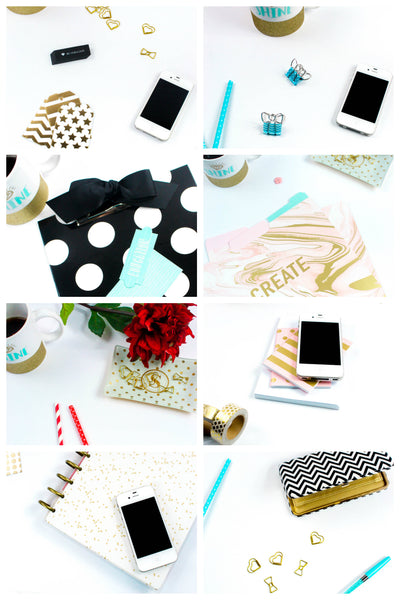 White Styled Desktop Photo Set {17 Photos}