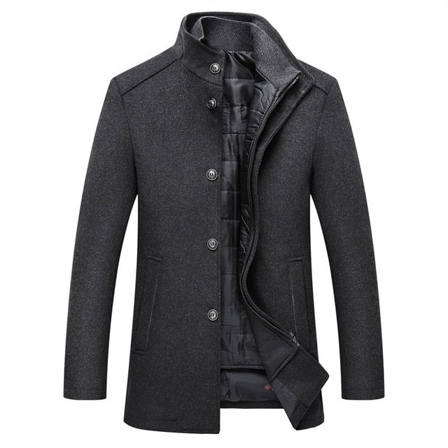 Cooper Square Men's Wool Topcoat With Detachable Vest
