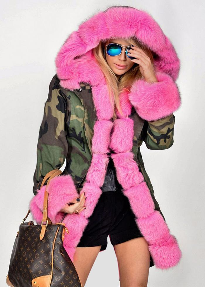 GIRL BOSS • CAMO & FUR COAT