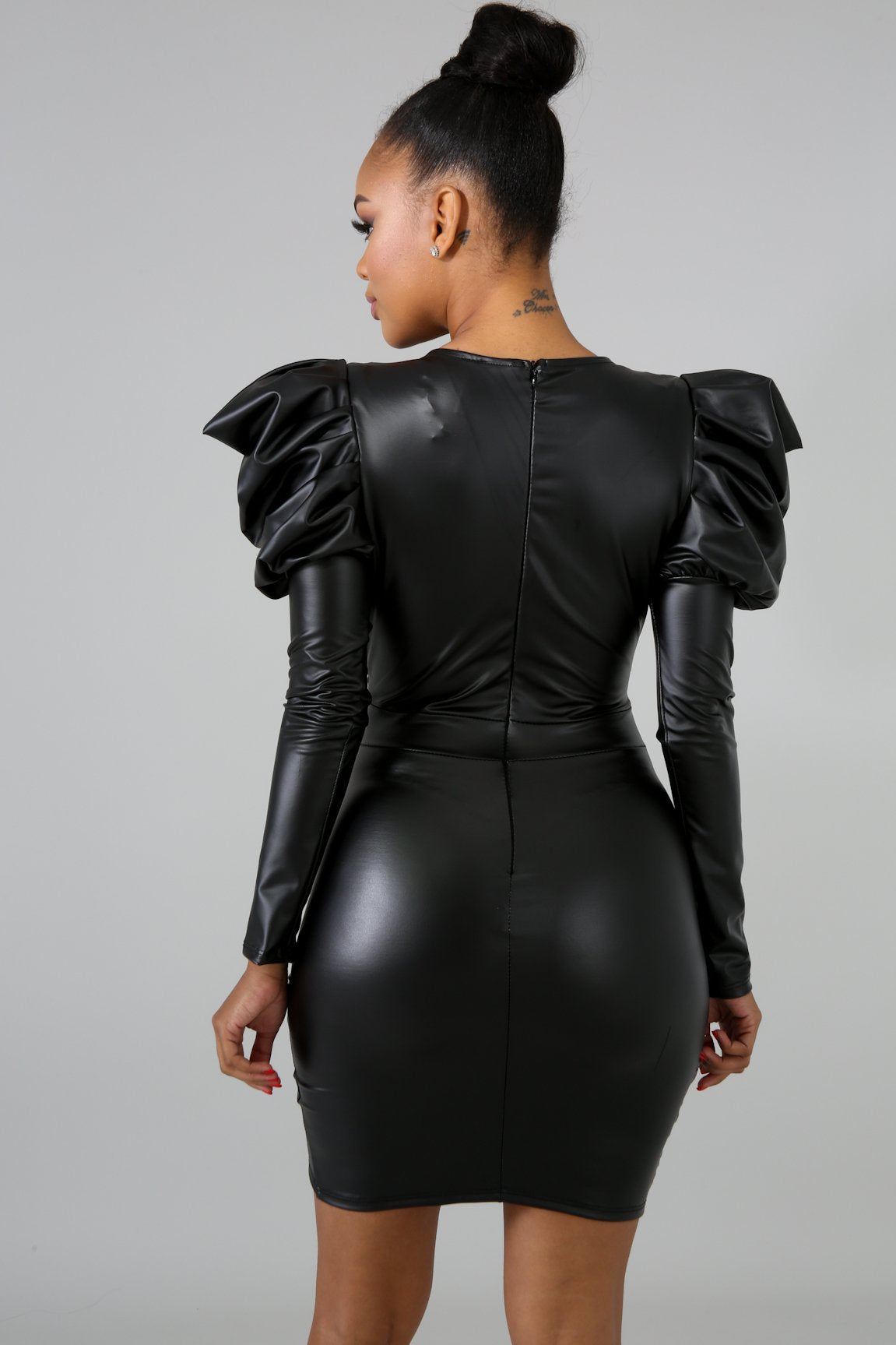 Black Swan Faux Leather Dress