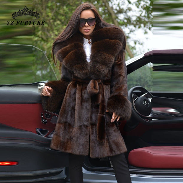 BELLE FARE | Mink Fox Fur Coat