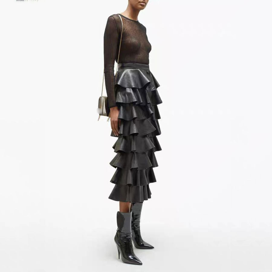 D'Artagnan Black Ruffled Skirt