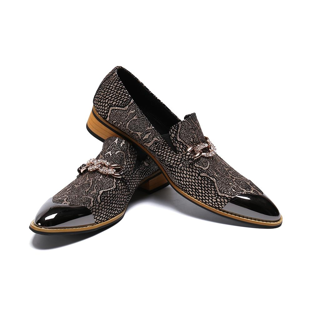 Alexander Pushkin Pointed Toe Brogue Slip on Leather Shoes