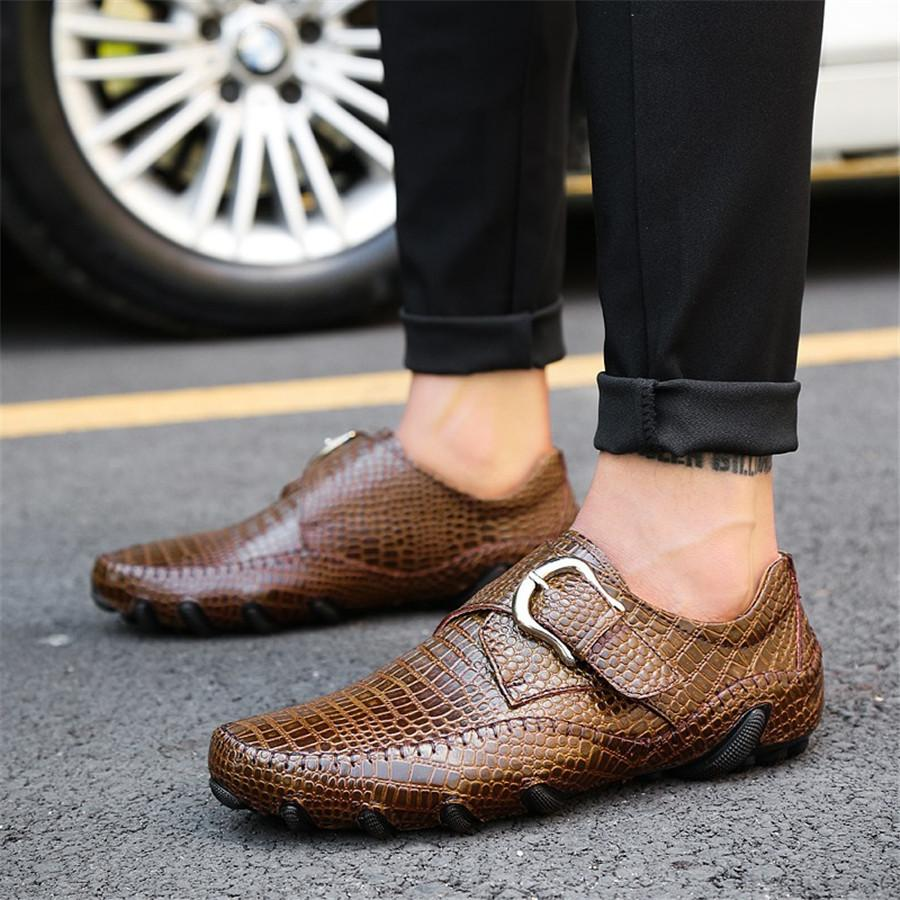 Killer Croc Genuine Leather Driving Loafers - Masstige Couture