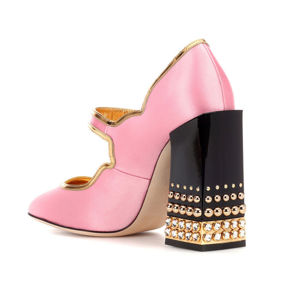 Cleopatra • Pink Studded Pumps
