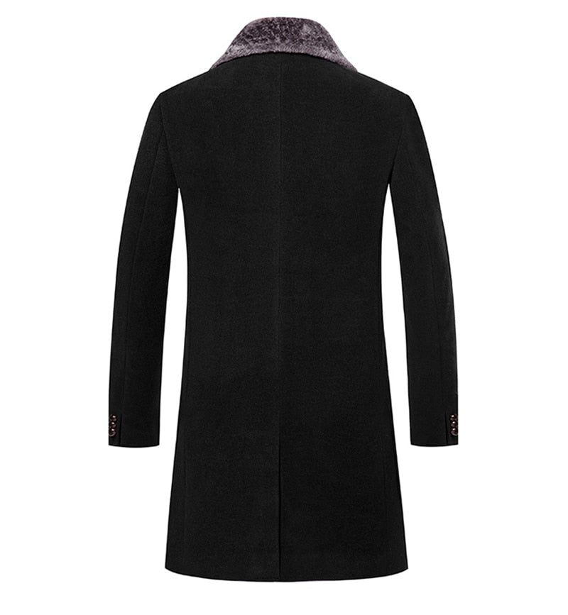 Sir. Lucious Wool/Fur Overcoat