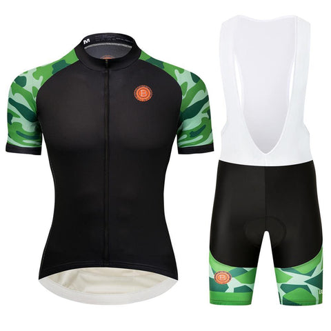 7f5648e65f6 Team Armee De Terre Style Camouflage Cycling Jersey Kit Black Green ...