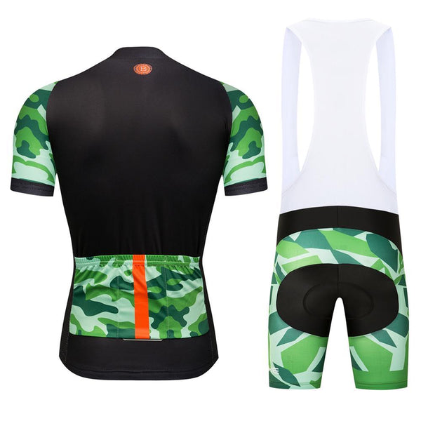 ab3701e9454 Team Armee De Terre Style Camouflage Cycling Jersey Kit Black Green –  wulibike