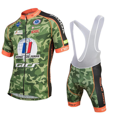 93af9017271 Team Armee De Terre Camouflage Cycling Jersey Kit. cycling jersey