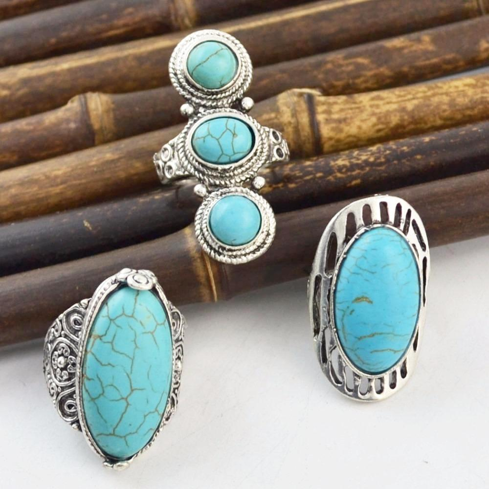 Bohemian Style Essential Turquoise Stone Ring – Quaintrellecollection