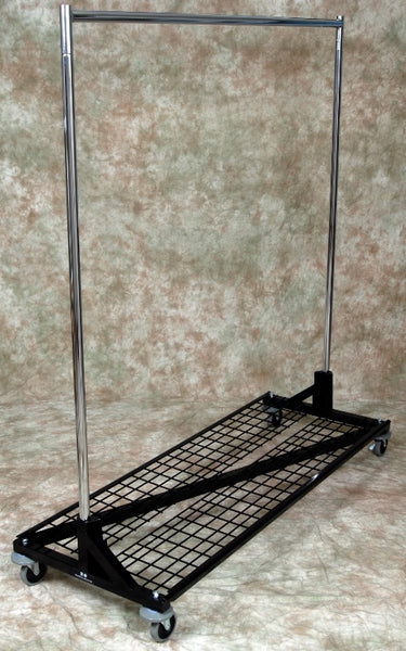 Z Rack, w/Shelf, 4 Height Settings, 5-ft to 7-ft Tall