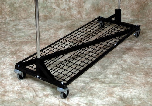 Z Garment Rack w/ 2 Rails, Bottom Shelf, 5-ft to 7-ft Tall