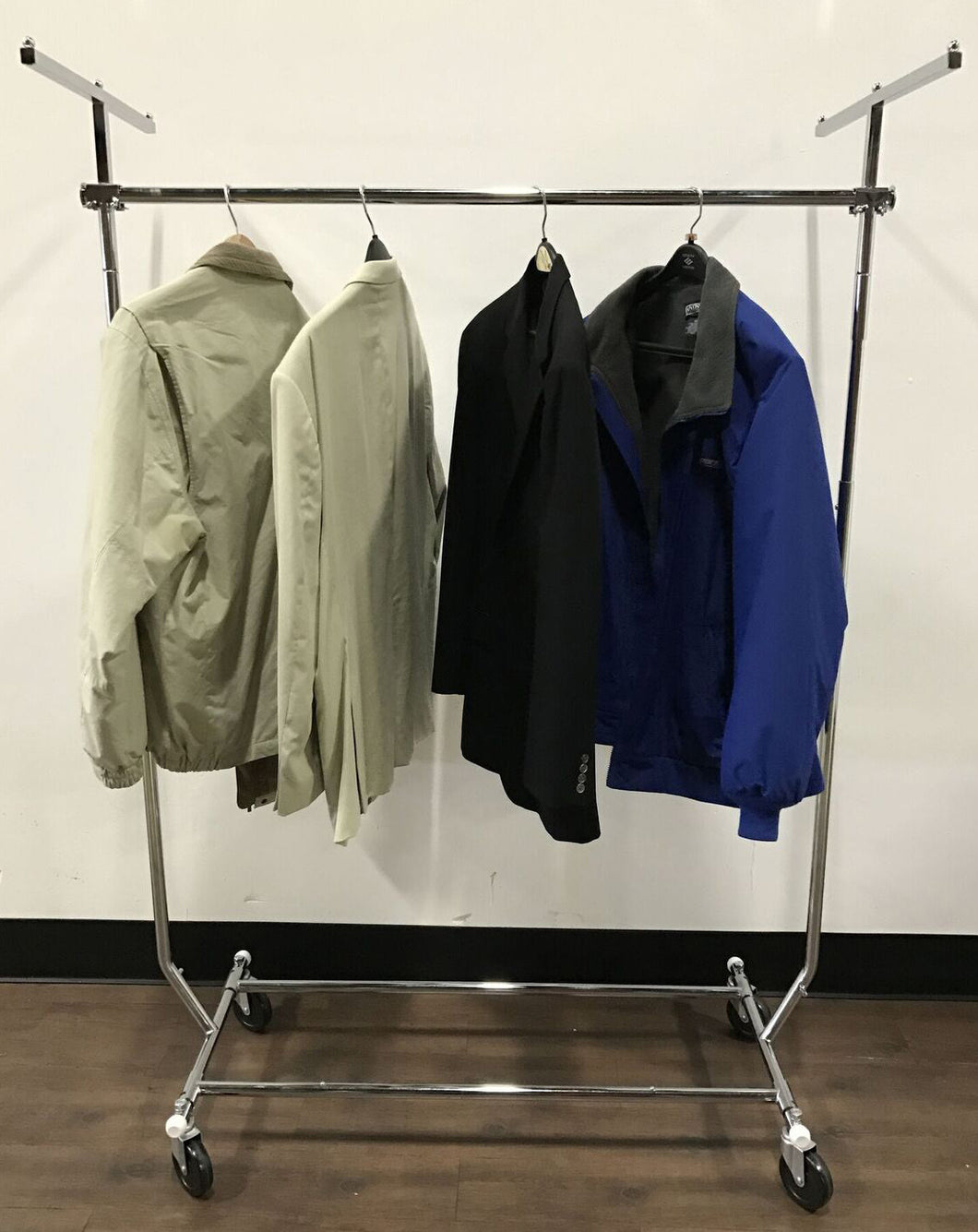 Portable Clothes Rack Combo With Cover Kit Garment Racks Etc