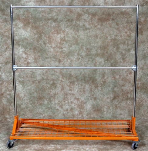 Z Rack 2 Rail, 5-ft Base,5-ft to 6-ft Upright w/ Bottom Shelf
