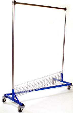 USA Z Rack, 5' Base, 6' Upright w/ Bottom Shelf