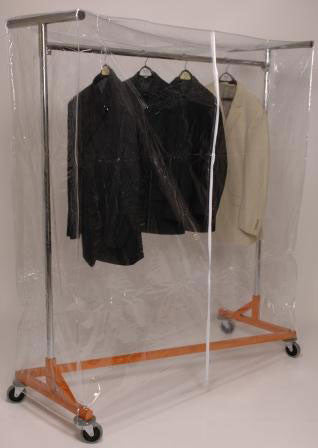 Heavy Duty Z Garment Rack with Cover, Height Adjustable Uprights