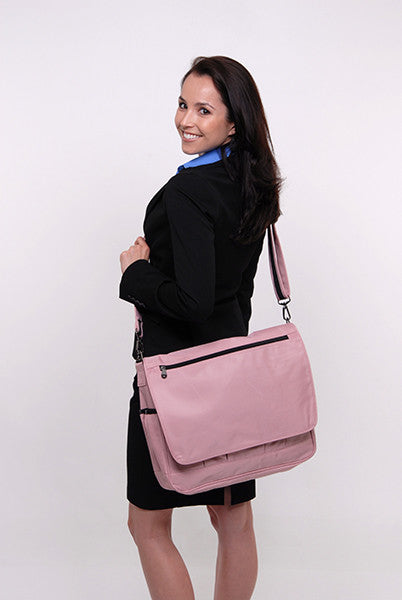Messenger Bag for Laptops and Tablets, Pink