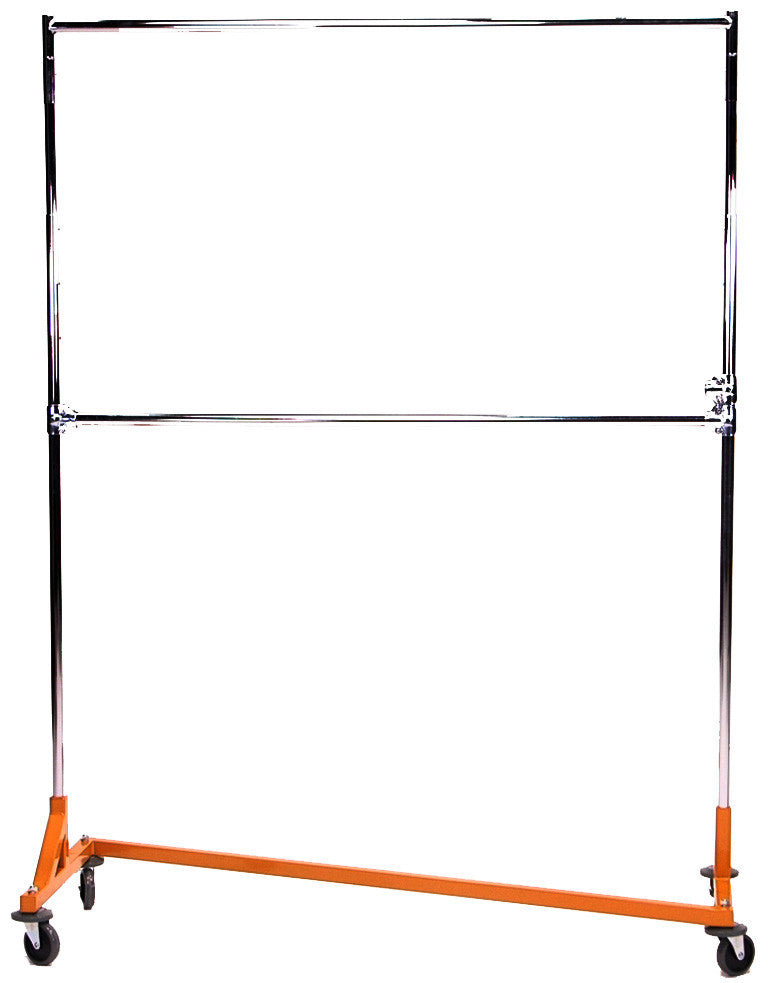 Z Rack, Double Hang Rails, Heavy Duty, 5-ft to 6-ft Uprights, Adjustable