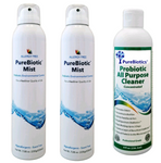 Essential Pack of 2 cans of PureBiotic Mist & 1 Probiotic Cleaner DEAL