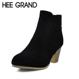 Women Ankle Boots Fashion Ladies Women Boots Three Colors High-Heeled Shoes