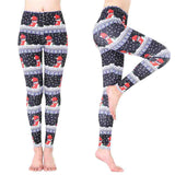 Women Santa Claus Sports Gym Yoga Running Fitness Leggings Pants Athletic Trouse