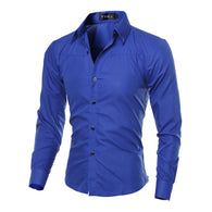 Cotton Mens Clothing Solid Soft Men Shirt Long Sleeve Mens Shirts