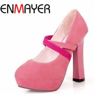 Rome Ankle Straps High Heel Shoes Sexy Ladies Spring Stiletto Fashion Women Platform Pumps