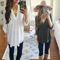 Maternity V-neck Chiffon Blouse Summer Fashion Pregnancy Clothing White Shirts Loose Tops