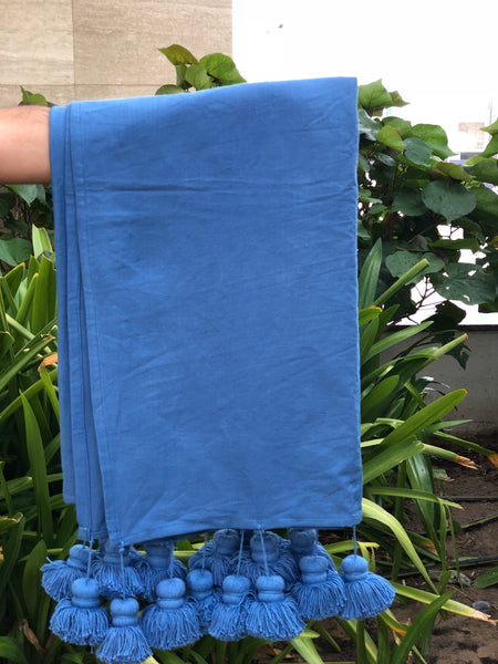 Woven Blue Throw  Blanket