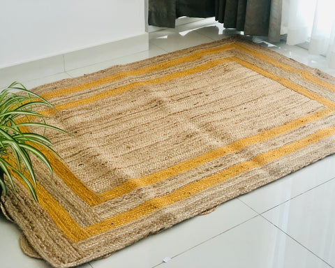 Custom made Jute rug border design 4x6