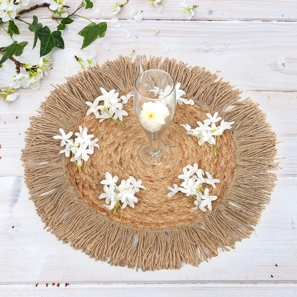 Round Jute Placemat/Rug