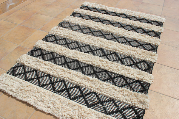 Ornate Handicrafts Tranquil 100% cotton handmade rug Scandinavian Nordic design rug boho rug area rug bohemian decor modern rug