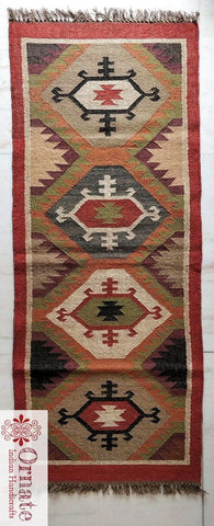 Eka Kilim rug , Indian kilim rug , wool jute kilim , turkish kilim design ,Orante handicrafts