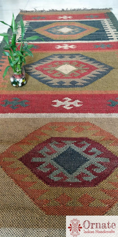 Esha  Kilim rug , Indian kilim rug , wool jute kilim , turkish kilim design ,Orante handicrafts