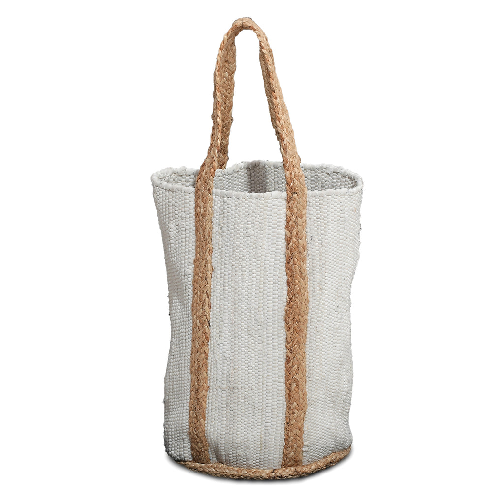 White Recycled Basket