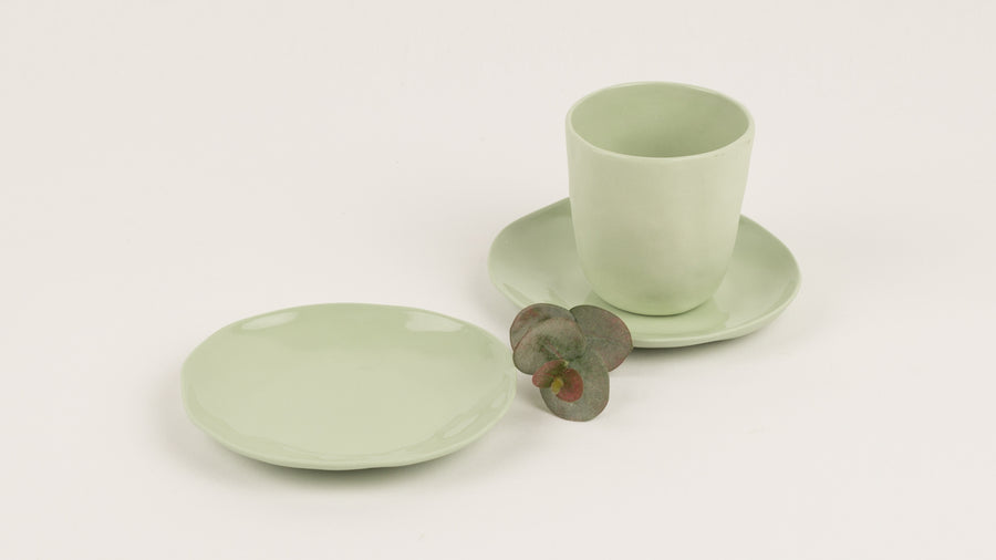 Flax Short Cup 7.5cm - Mint