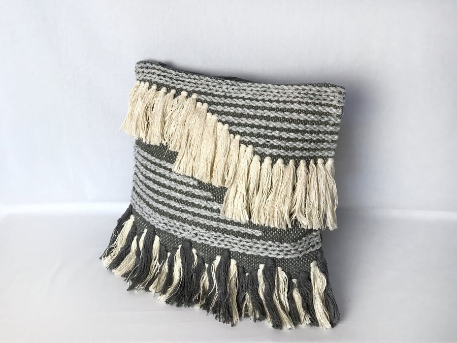 Azuilk Cushion - Grey/Black (45cm)