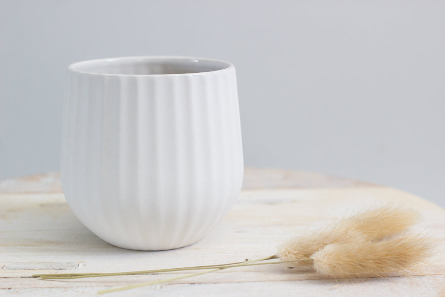 Flax Amity Ceramic Cup - Snow White