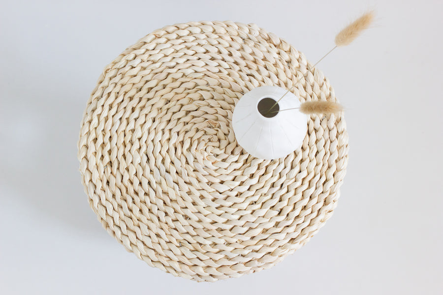 Woven Top Stool - Bleached