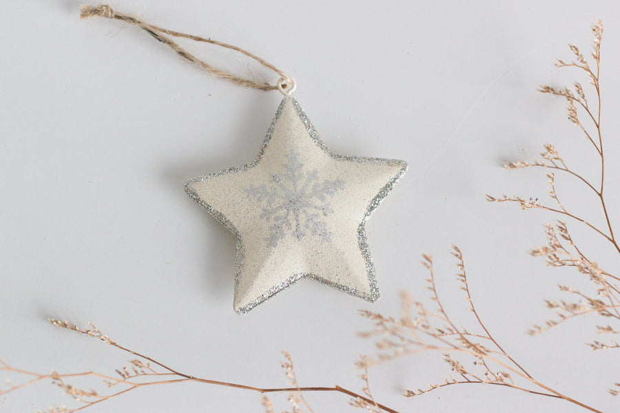 Christmas Star with Snowflake Motif