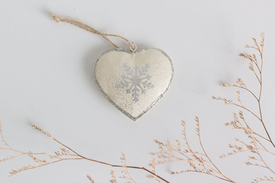 Christmas Heart with Snowflake Motif
