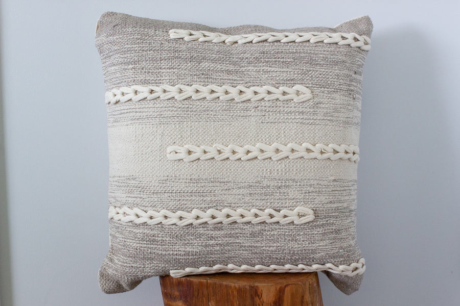 Donovan Cushion - Natural/Grey