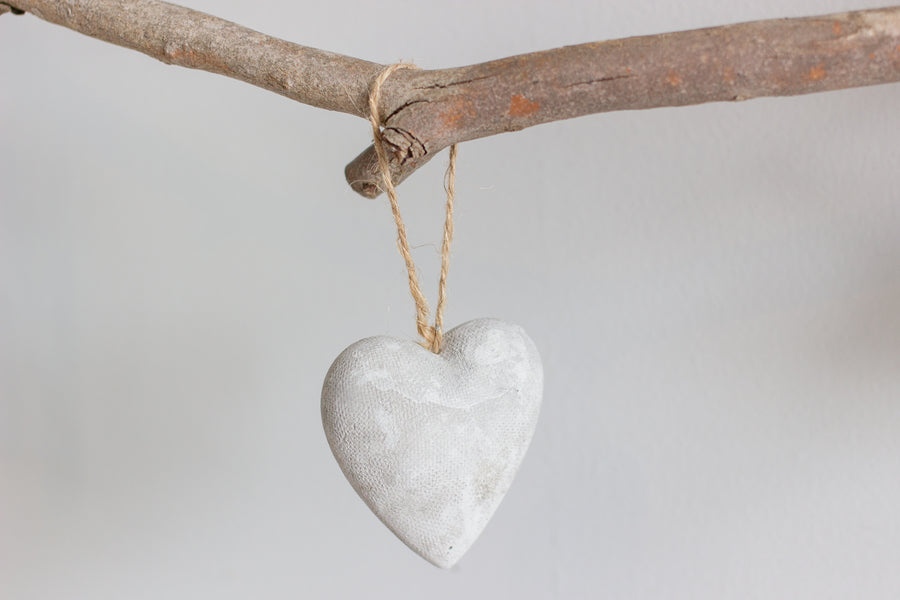 Concrete Hanging Heart